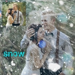 Effects Snow photoshop