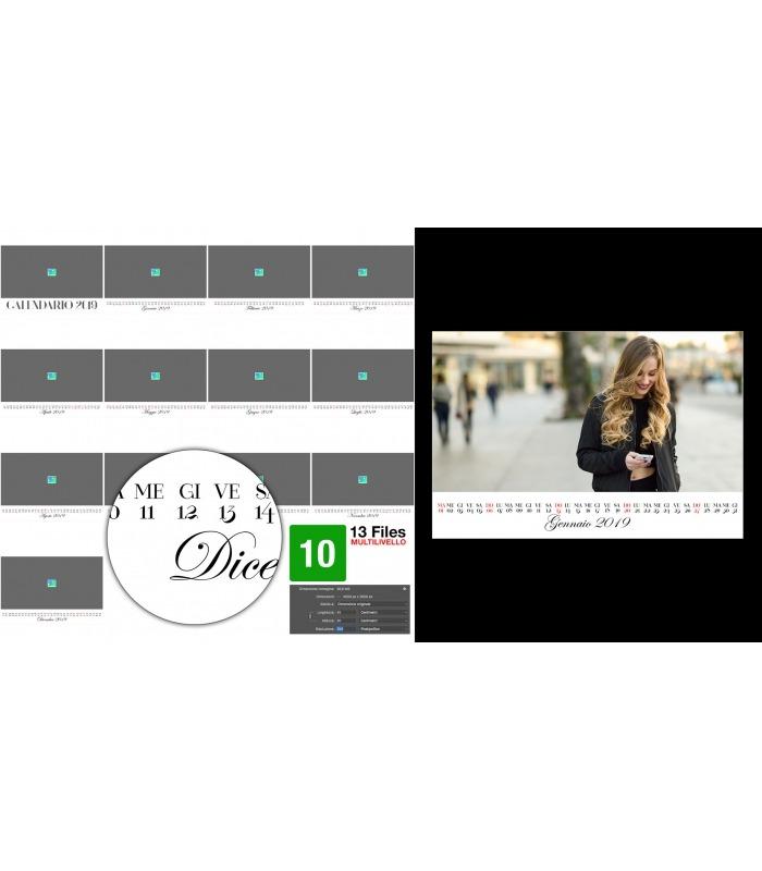 Calendario Anno 2015 Mensile.Calendario Personalizzato 2019