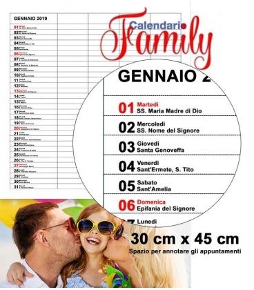 Calendario 2019 Famiglia