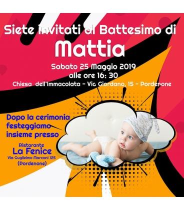 Inviti per Battesimo - 15x15