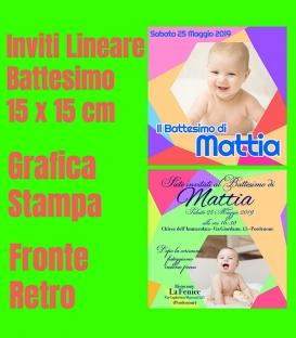 Inviti Battesimo - Lineare - 15x15