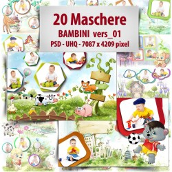 Maschere Photoshop Bambini