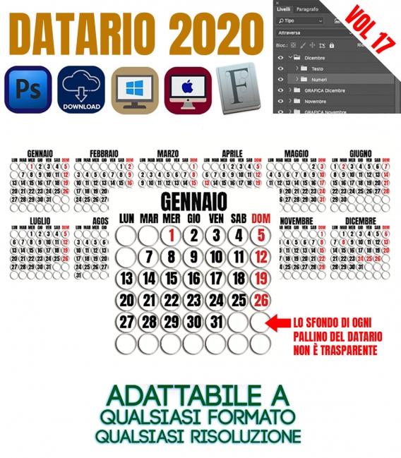 Datario Calendario 2020 Vol.17