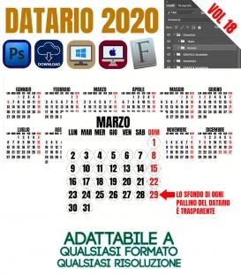 Datario Calendario 2020 Vol.18
