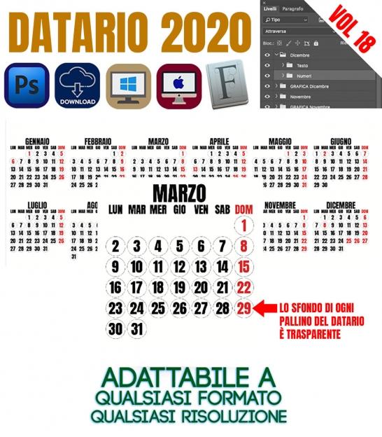 Calendario Santi Ottobre 2020.Il Datario 2020 Con Santi In Alta Risoluzione Il Piu