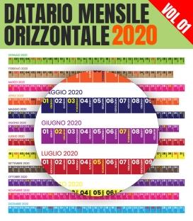 Datario Mensile 2020 Orizzontale 01