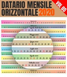 Datario Mensile 2020 Orizzontale 05