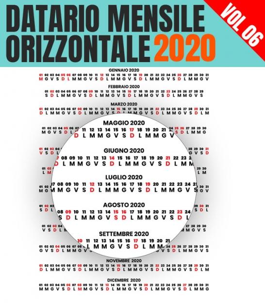 Calendario Mensile Settembre 2020.Il Datario 2020 Con Santi In Alta Risoluzione Il Piu