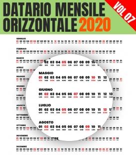 Datario Mensile 2020 Orizzontale 07