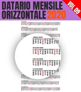 Datario Mensile 2020 Orizzontale 09