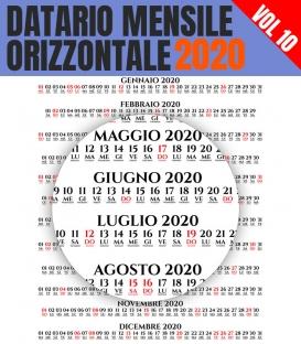 Datario Mensile 2020 Orizzontale 10
