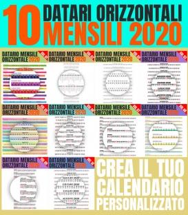 10 Datari Mensili Orizzontali 2020