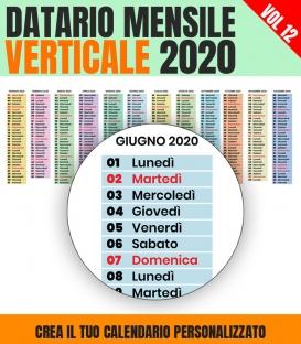 Datario Mensile 2020 Verticale 12