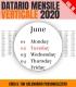 Datario Mensile 2020 Verticale 18