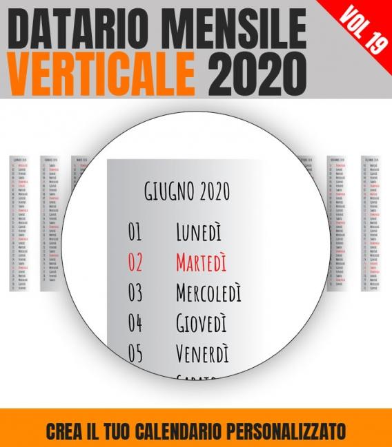 Datario Mensile 2020 Verticale 19