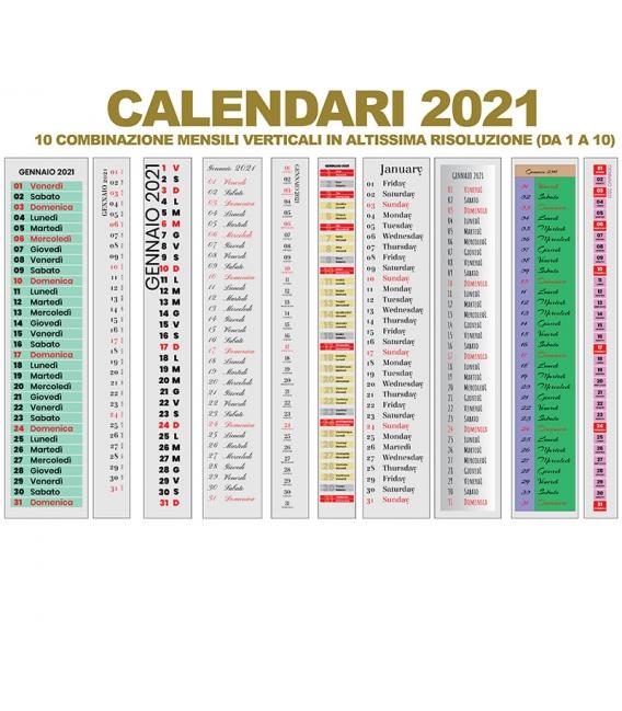 Calendario Mensile 2021 DA 01 A 10