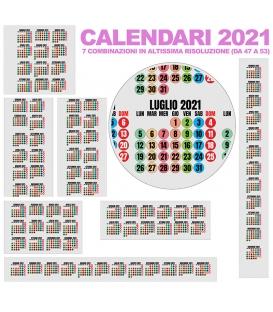 Calendario Annuali 2021 DA 47 A 53