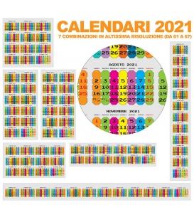 Calendario Annuali 2021 DA 61 A 67