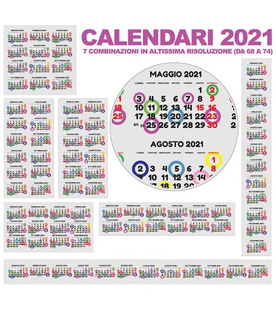 Calendario Annuali 2021 DA 68 A 74