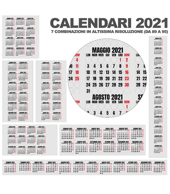 Calendario Annuali 2021 DA 89 A 95