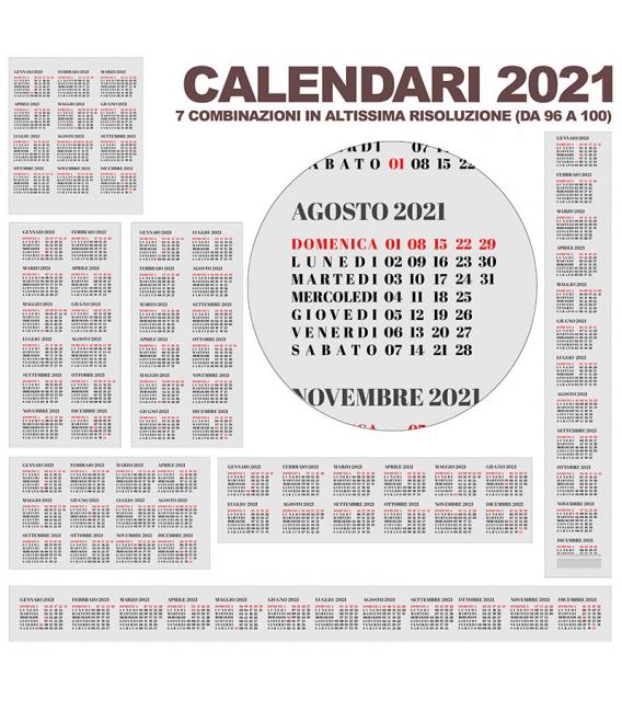 Calendario Annuali 2021 DA 96 A 100