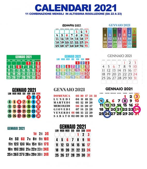Calendario Mensile 2021 DA 22 A 32