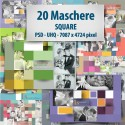 Maschere Photoshop Square